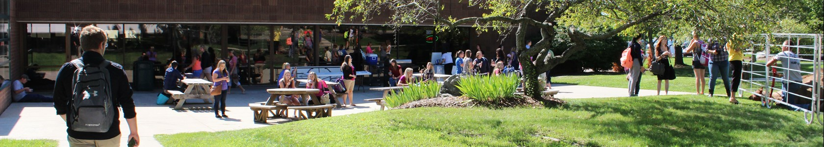 Students enjoy MCC's Sidney campus picnic area