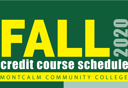 Fall 2020 Credit Course Schedule front cover